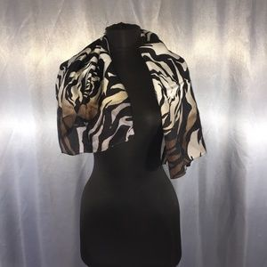 Vince Camuto floral printed silk scarf
